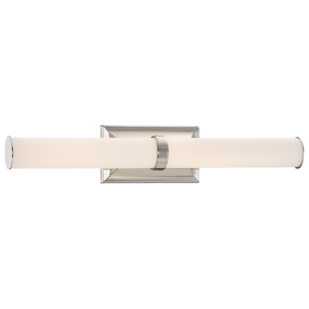 GoodLumensbyMadisonAvenue Good Lumens by Madison Avenue Polished Nickel LED Bath Vanity Light