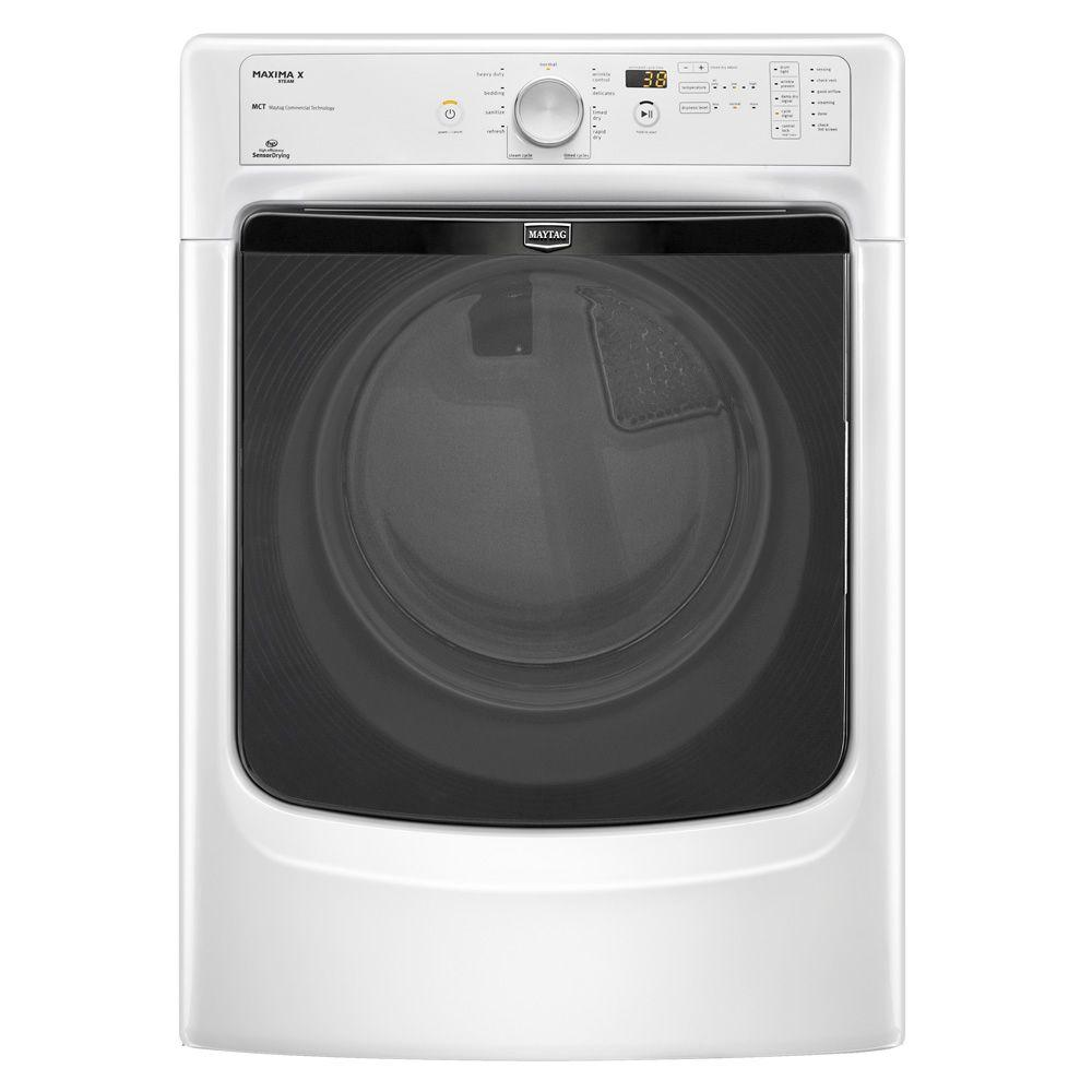 Maytag Maxima X 7.4 cu. ft. Electric Dryer with Steam in White