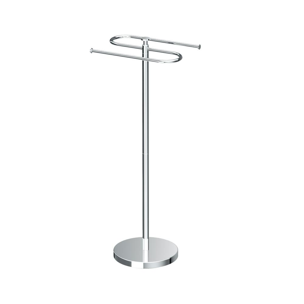 Gatco Modern Floor Standing Towel Holder In Chrome
