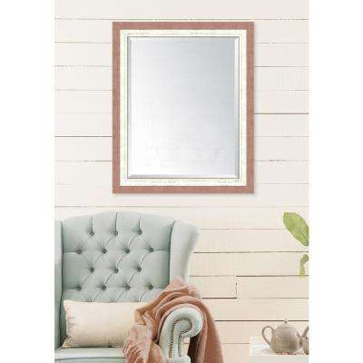 28 in. x 34 in. Framed Autumn Spice and French White Mirror