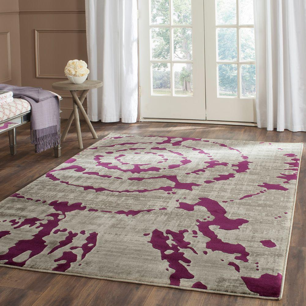 Safavieh Porcello Light Grey Purple 9 Ft X 12 Ft Area