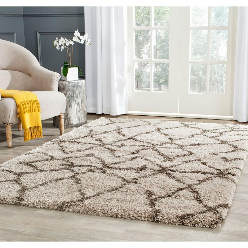 Is Taupe Grey: Safavieh Belize Shag Taupe/Gray 4 Ft. X 6 Ft. Area Rug