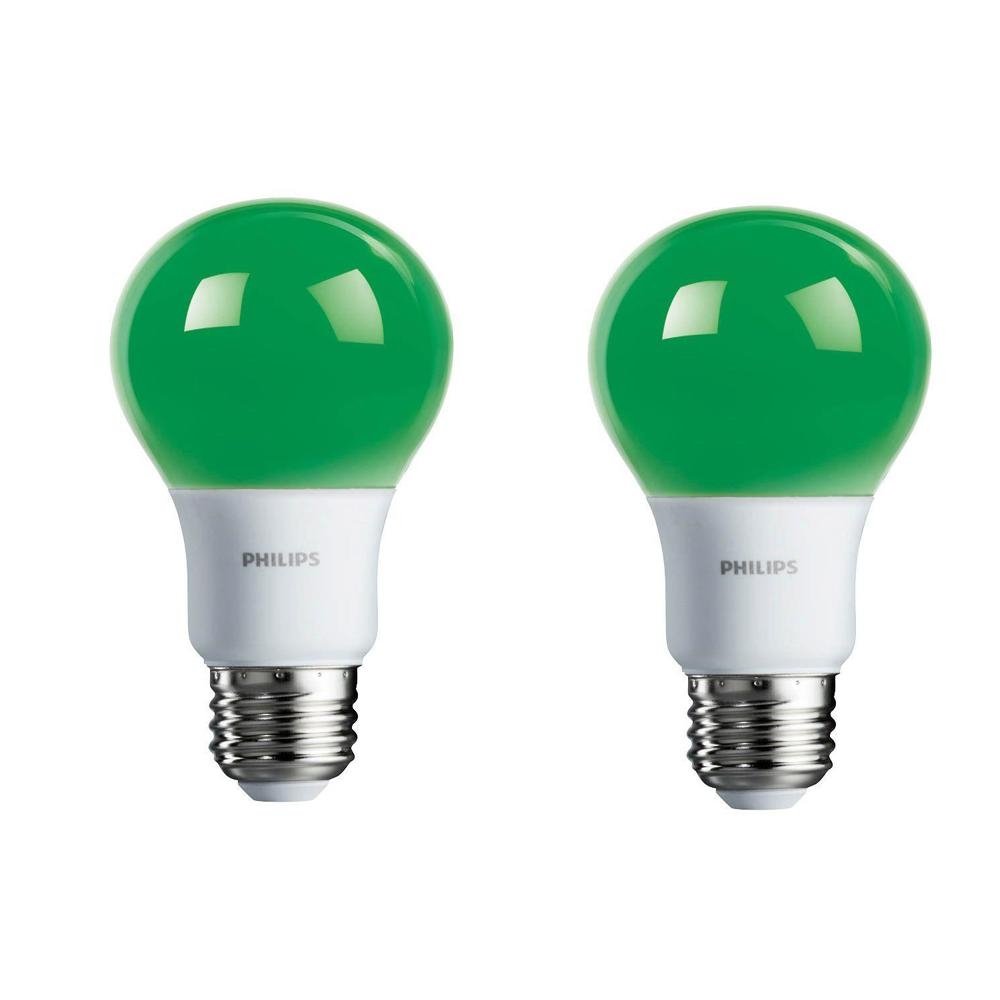 Philips 60 Watt Equivalent A19 Non Dimmable Green Led
