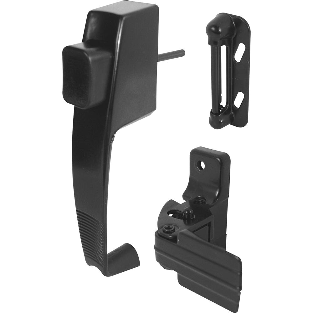 Prime Line Black Push Button Latch With Tie Down K 5071