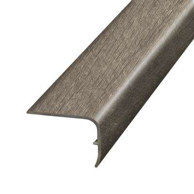 Stony Oak Java 1.32 in. Thick x 1.88 in. Wide x 78.7 in. Length Vinyl Stairnose Molding