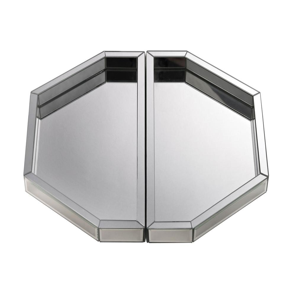 15 in. x 7.5 in. x 2 in. Mirror Decorative Trays (Set of ...