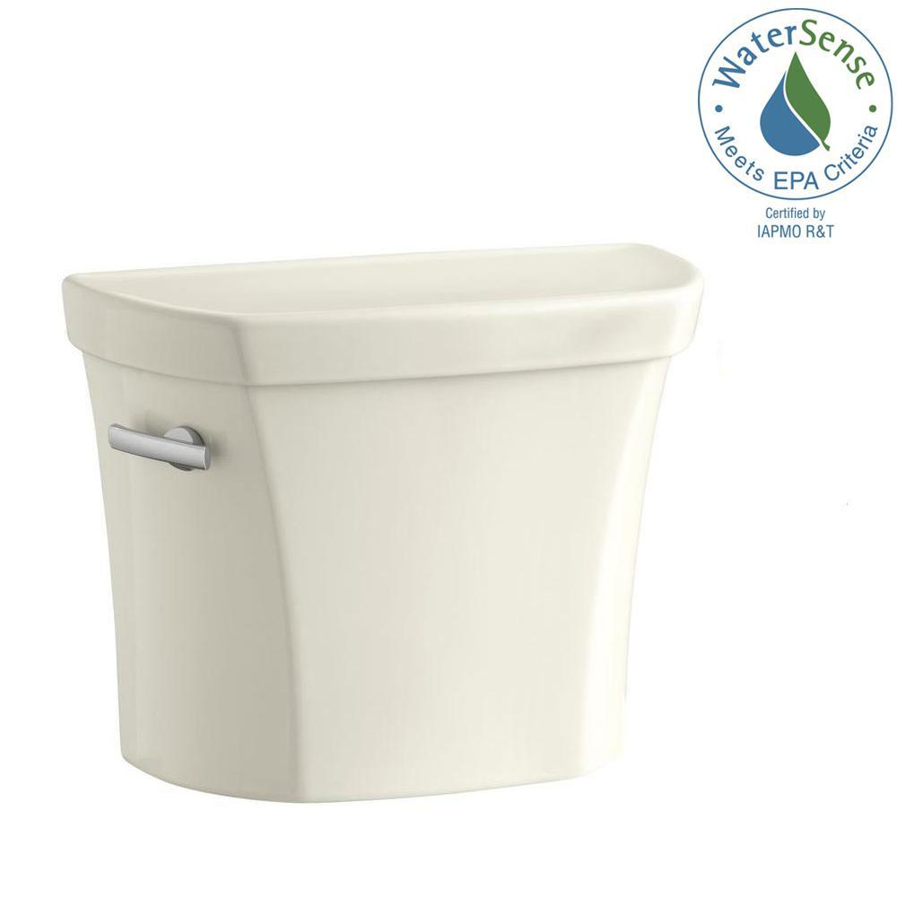 KOHLER Wellworth 1.6 GPF Single Flush Toilet Tank Only in Beige-K ...