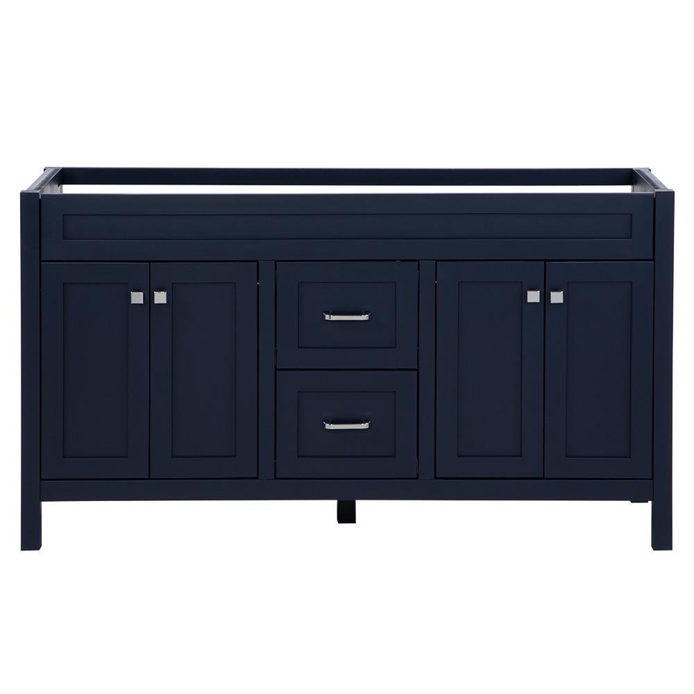 Maywell 60 in. W x 18.5 in. D x 34.4 in. H Bath Vanity Cabinet Only in Blue
