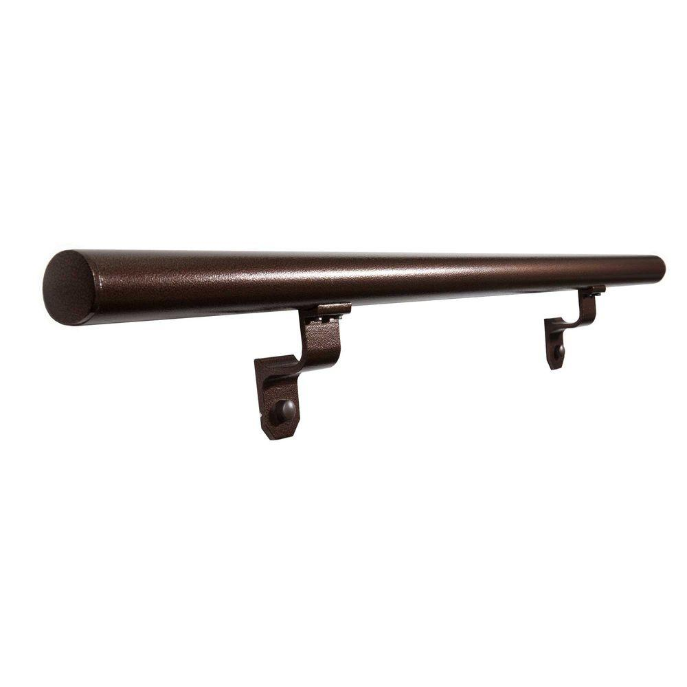 6 ft. Copper Vein Aluminum Round Straight Hand Rail Kit