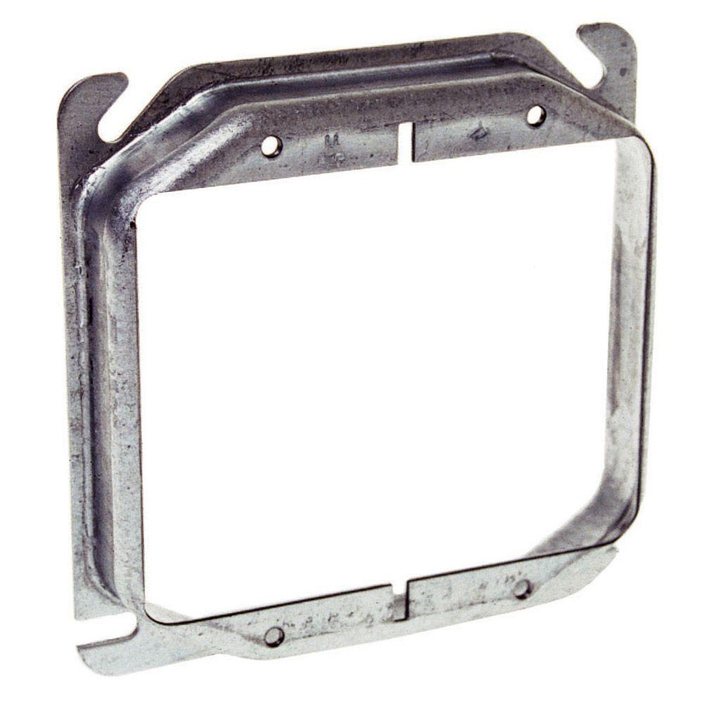 RACO 4 in. Square 2-Device Mud Ring (25-Pack)