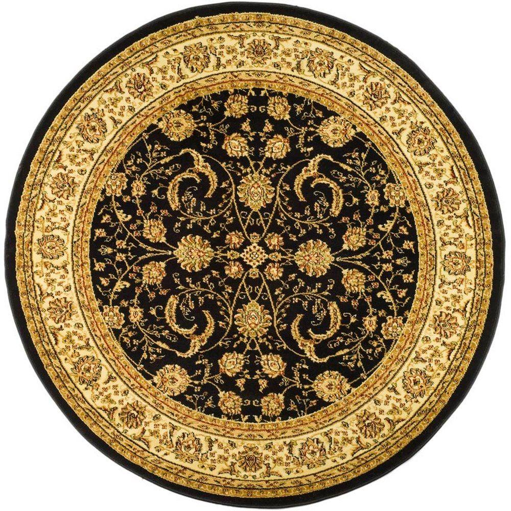 Safavieh Lyndhurst Black/Ivory 5 ft. x 5 ft. Round Area Rug