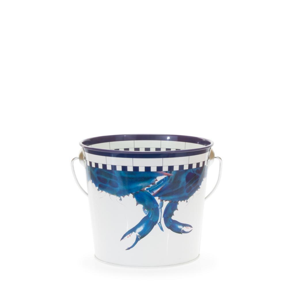 2 qt. Blue Crab Decorative Steel Pail