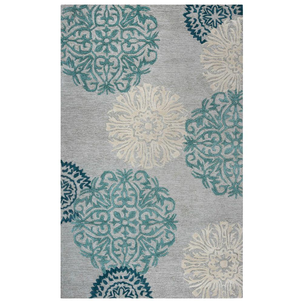 Dimensions Blue 5 ft. x 8 ft. Area Rug