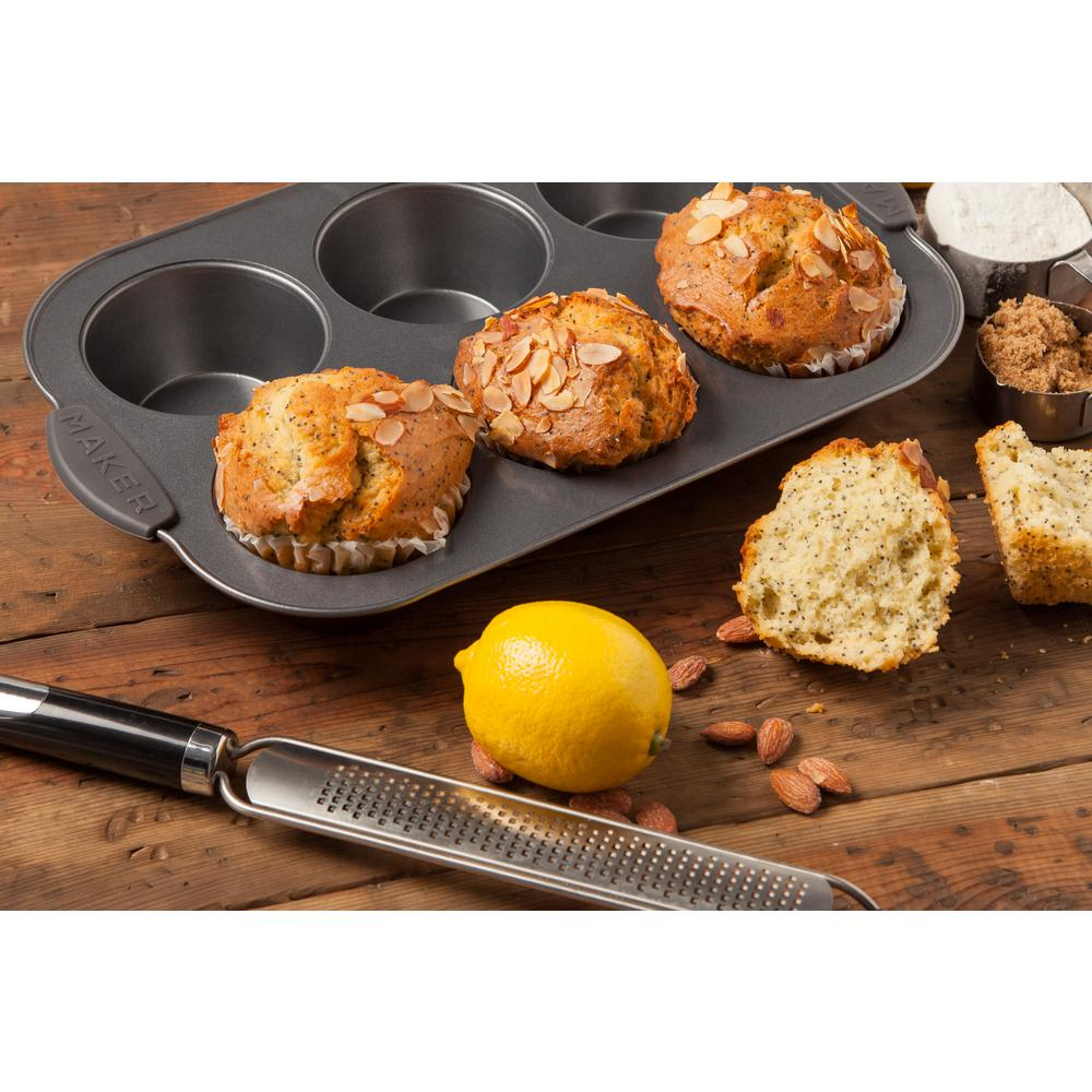Maker Homeware 6-Cup Jumbo Muffin Pan