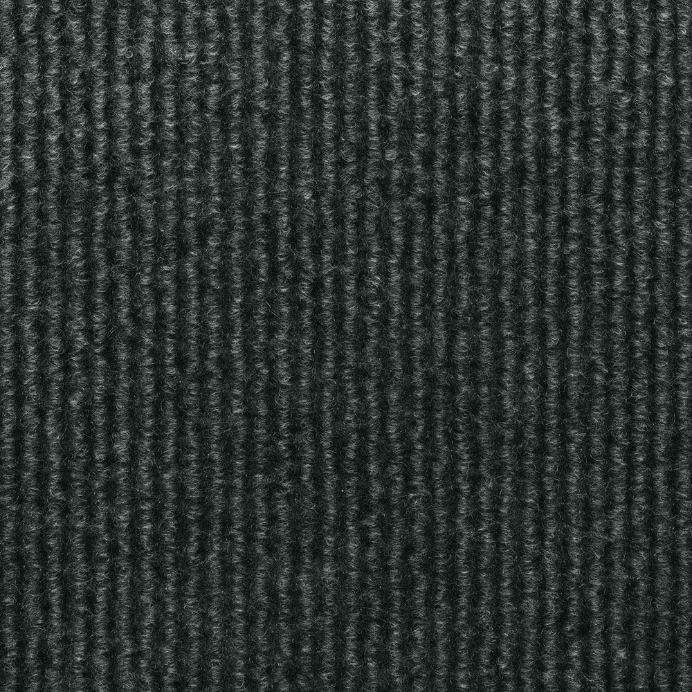 TrafficMASTER Sisteron Black Ice Wide Wale Texture 18 in. x 18 in. Indoor/Outdoor Carpet Tile (10 Tiles/Case)