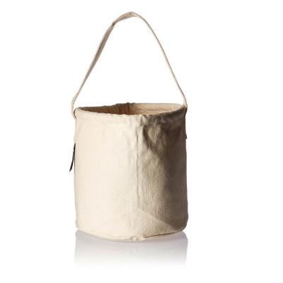 10 in. Canvas Tool Bucket in White