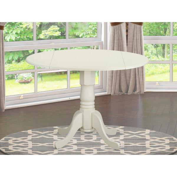 International Concepts 42 Round Dual Drop Leaf Pedestal Table-35.5 H Black//Cherry Dining Table