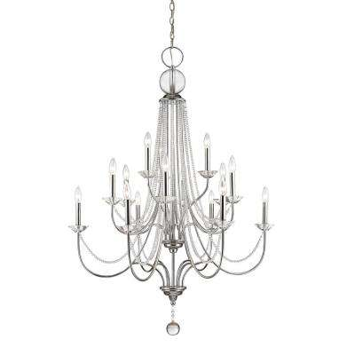 Vinson 15-Light Chrome Chandelier with Clear Crystals