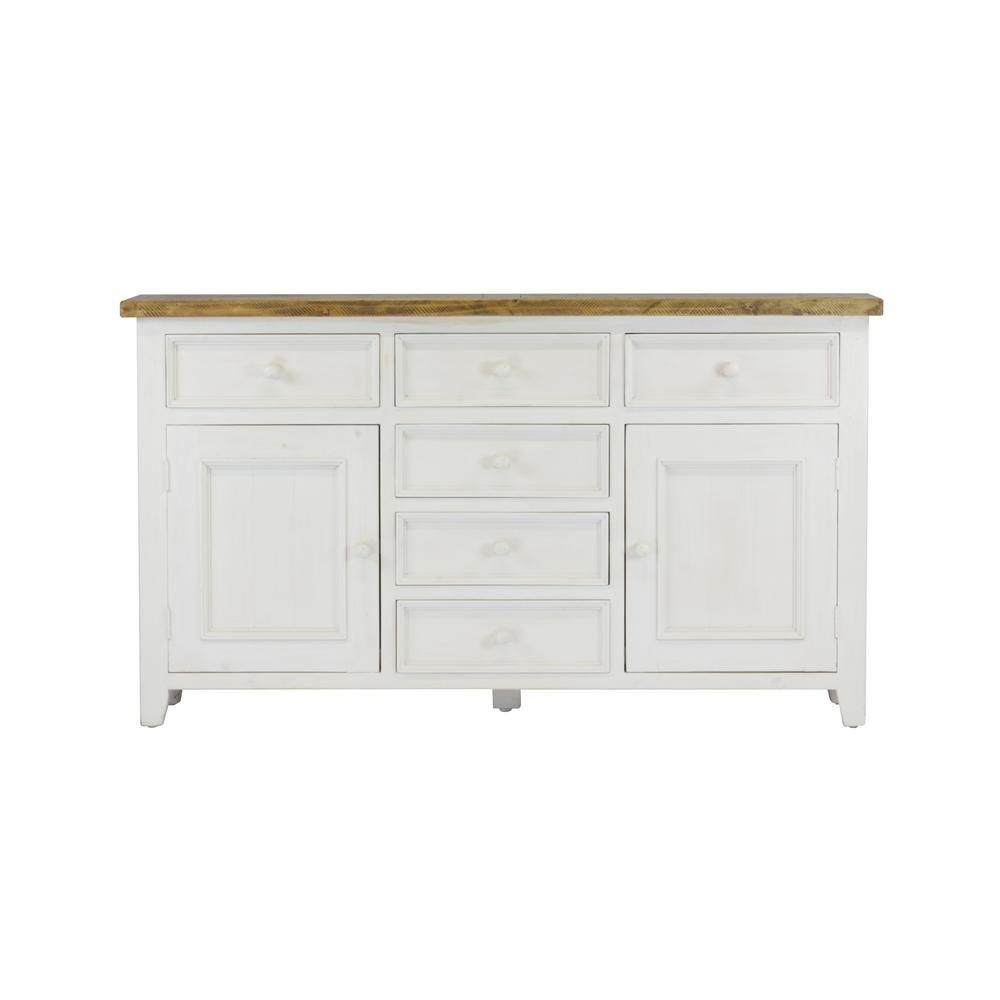 Lux Home Byron Distressed White Solid Reclaimed Wood