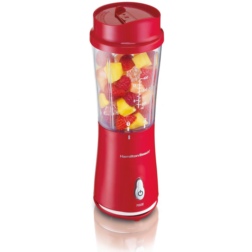 Hamilton Beach Single Serve Blender, Red/Orange
