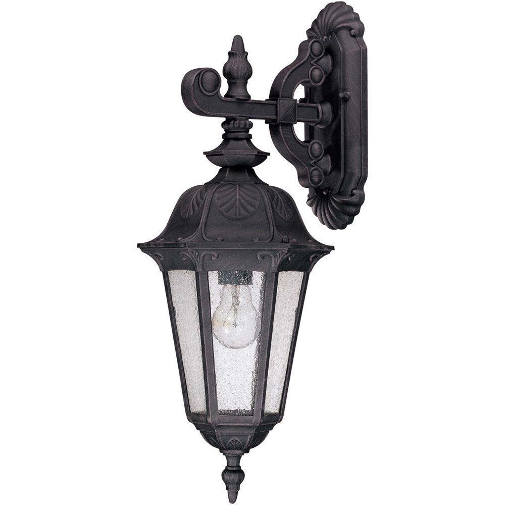 1-Light Satin Iron Ore Outdoor Incandescent Wall Light