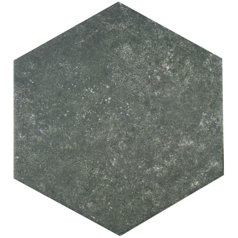 Merola Tile Traffic Hex Dark 8-5/8 in. x 9-7/8 in. Porcelain Floor and Wall Tile (11.56 sq. ft. / case)