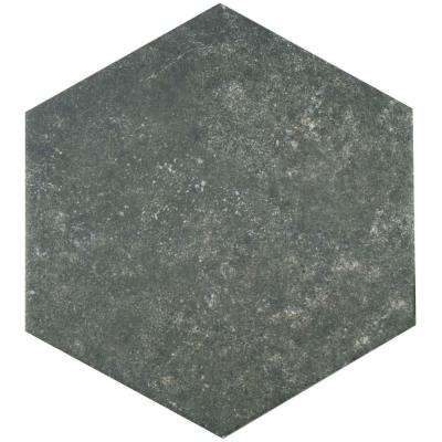 Traffic Hex Dark 8-5/8 in. x 9-7/8 in. Porcelain Floor and Wall Tile (11.19 sq. ft. / case)