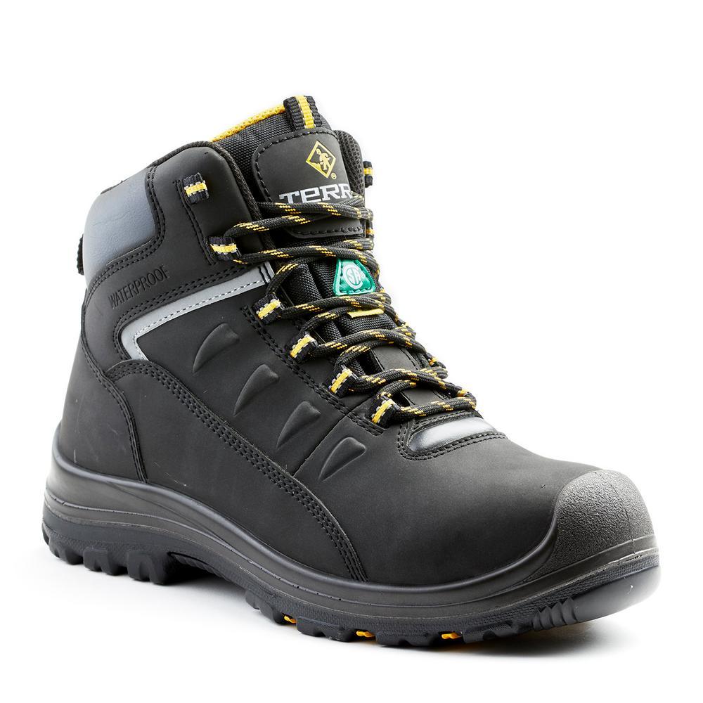 da5f1dbd5e8 Terra Findlay Men's Size 12 Black Leather Composite Toe Work Boot