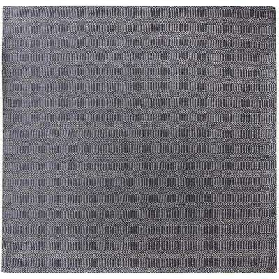 Ronal Charcoal 6 in. x 6 in. Square Indoor Area Rug