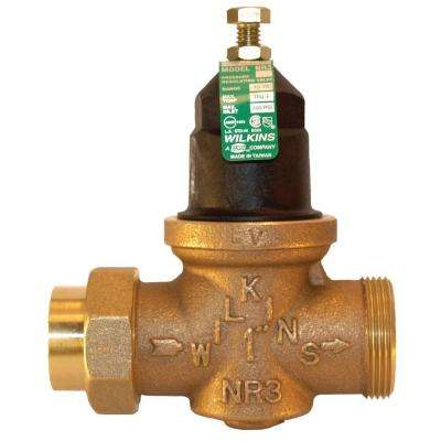 3/4 in. Lead-Free Bronze Water Pressure Reducing Valve with Double Union Male Barbed Connection Tailpiece