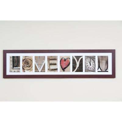 8-Opening 4 in. x 6 in. White Matted Brown Photo Collage Frame