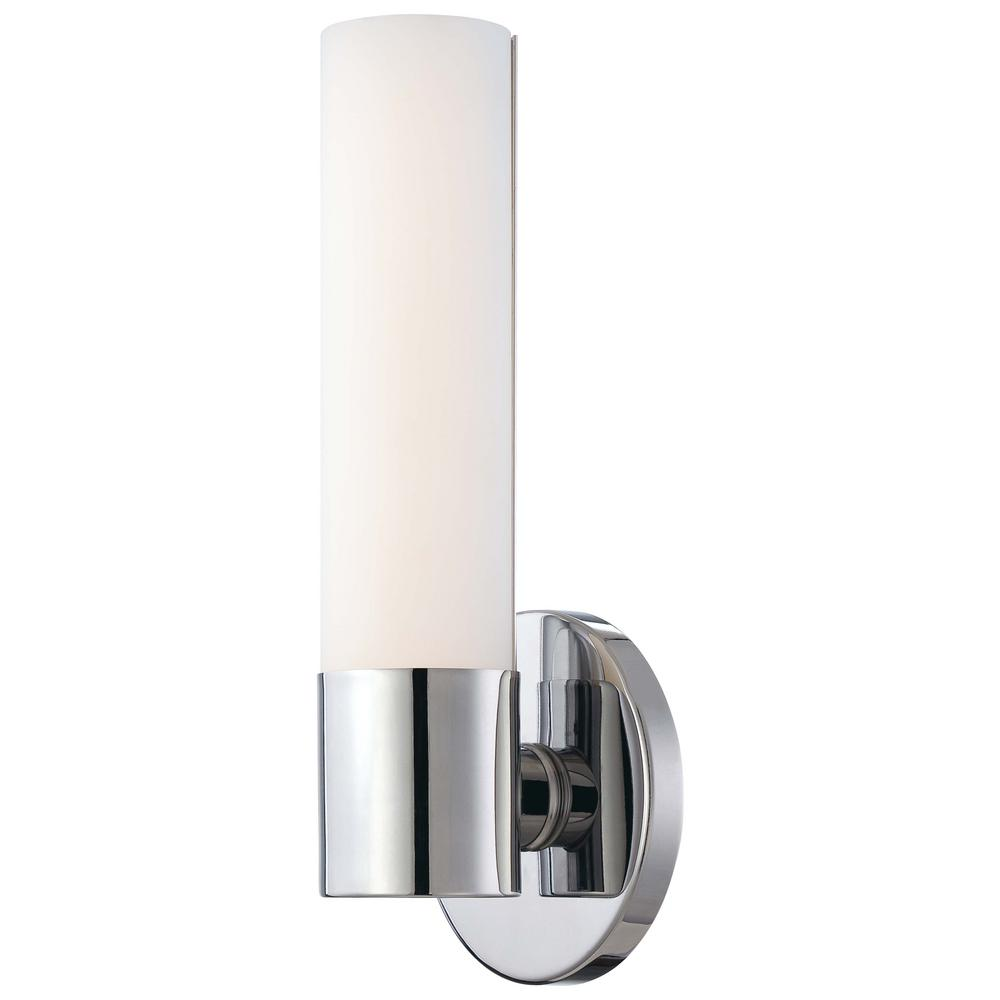 George kovacs saber 2 light brushed nickel wall sconce p5042 084 saber ii 10 watt chrome integrated led wall sconce amipublicfo Choice Image