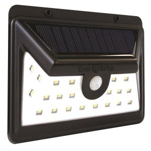 Ever Brite Black Motion Activated Outdoor Integrated Led Area Light With 24 White Solar
