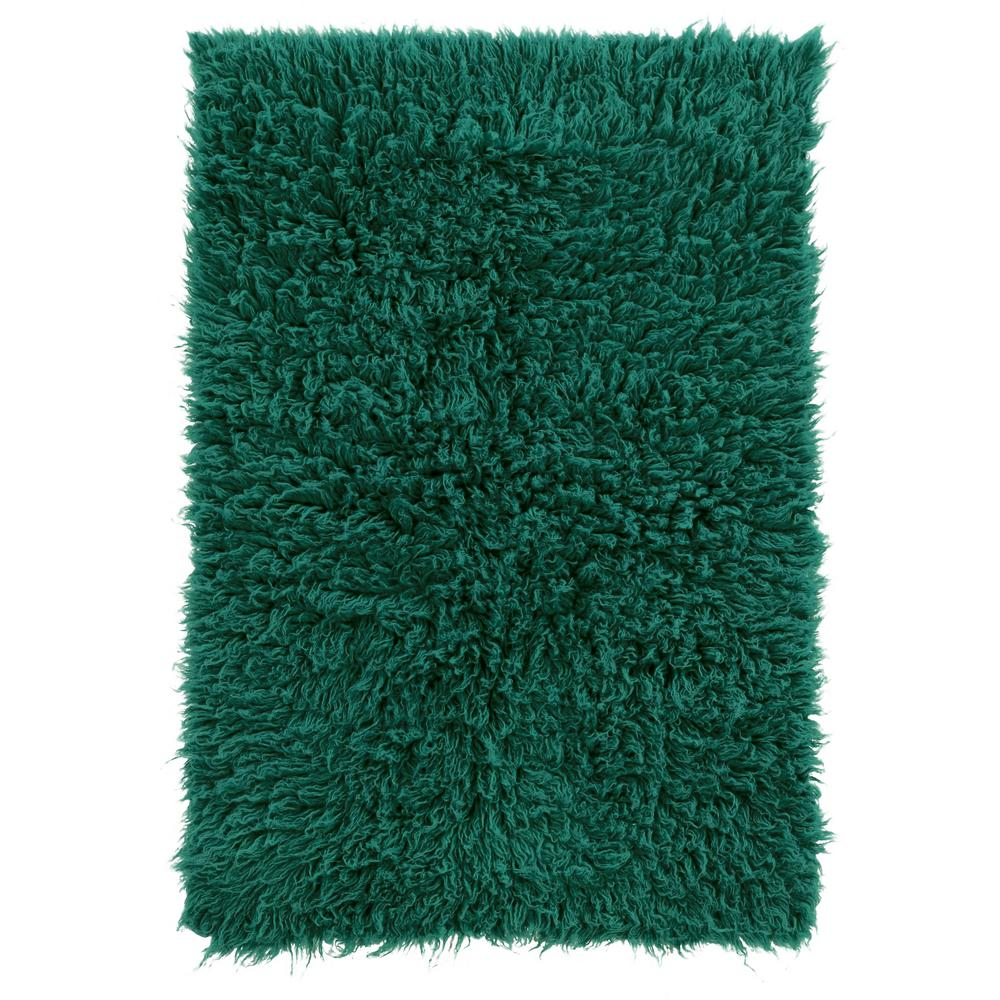 Linon Home Decor New Flokati Emerald Green 8 Ft. X 10 Ft