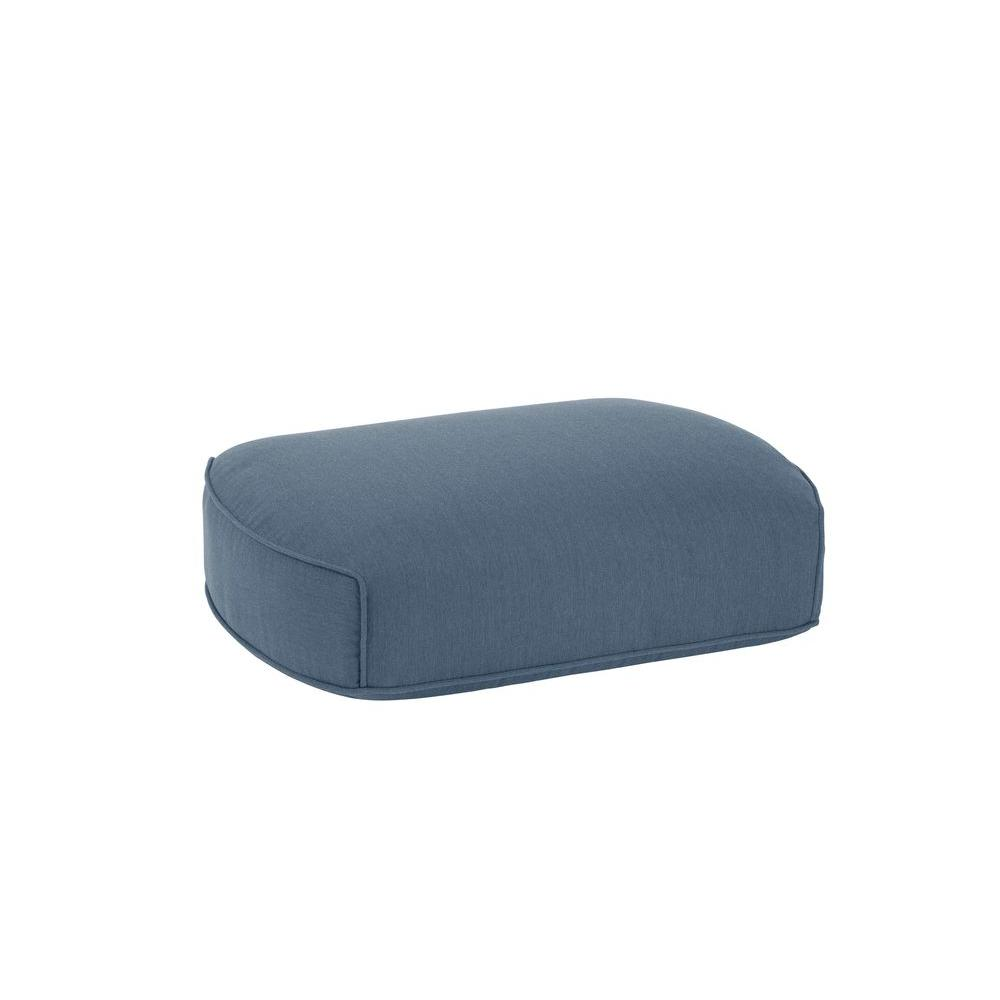 Highland Replacement Outdoor Ottoman Cushion in Denim