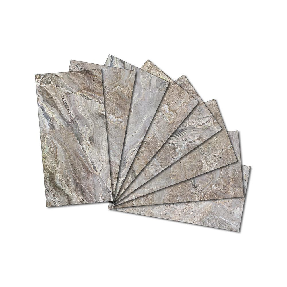 3 In X 6 6mm Upscale Designs Crystal Beveled Gl Mosaic Wall Tile 7 8 Sq Ft Set Of 64
