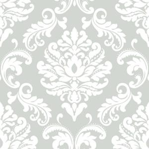 NuWallpaper Grey Ariel Peel and Stick Wallpaper by NuWallpaper