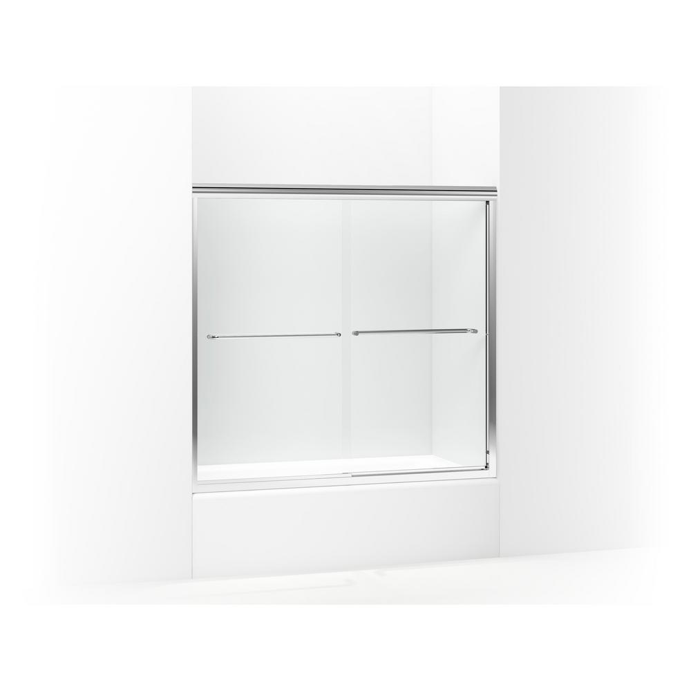 STERLING Finesse 59-5/8 in. x 55-3/4 in. Frameless Sliding Tub Door ...