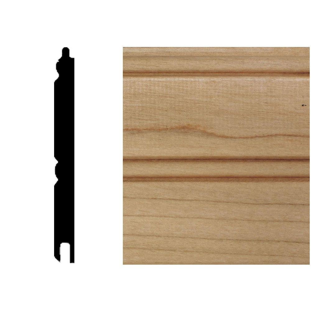 null 5/16 in. x 3-1/8 in. x 8 ft. Maple T&G Wainscot Panels (6-Pieces)