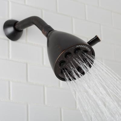 3-Spray 3.6 in. Single Wall MountHigh Pressure Fixed Adjustable Shower Head in Oil Rubbed Bronze