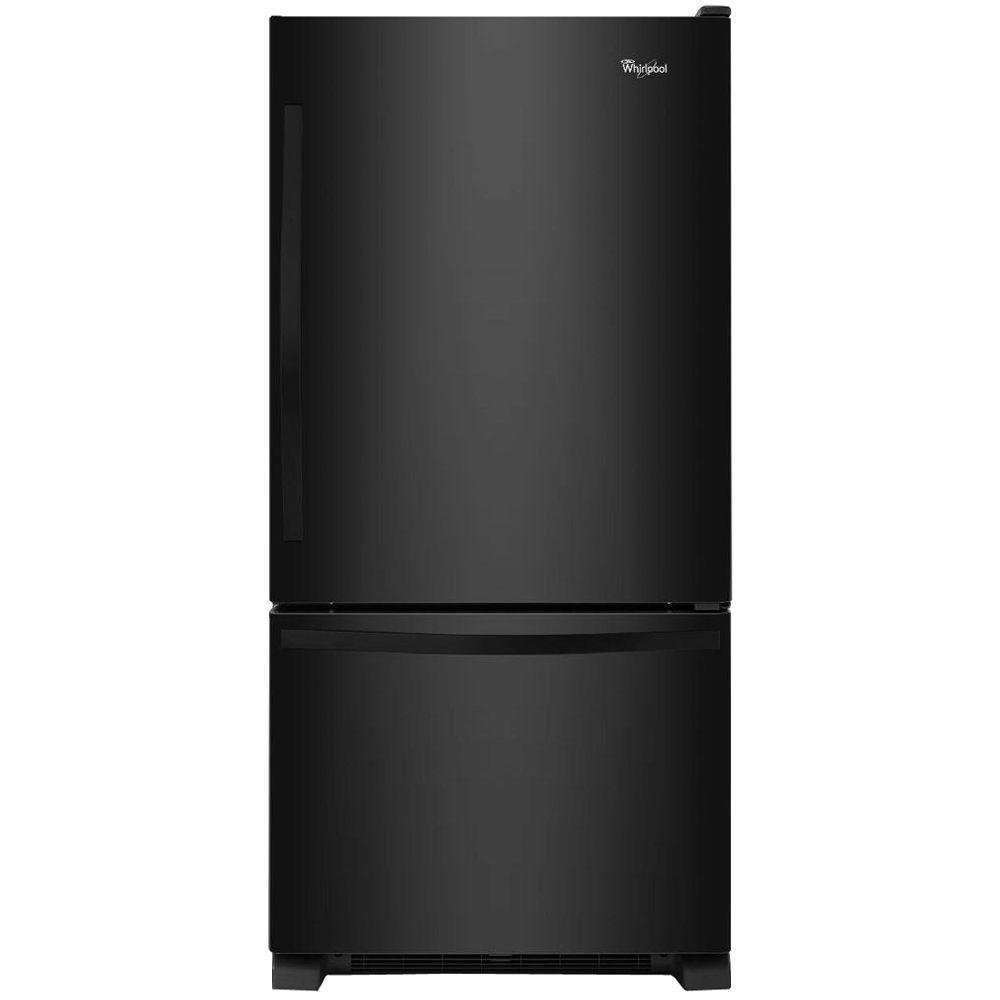 Whirlpool 30 in. W 18.7 cu. ft. Bottom Freezer Refrigerator in ...