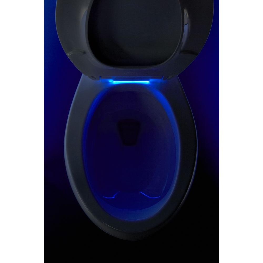 Amazing Kohler Cachet Led Nightlight Elongated Quiet Closed Front Toilet Seat In White Machost Co Dining Chair Design Ideas Machostcouk