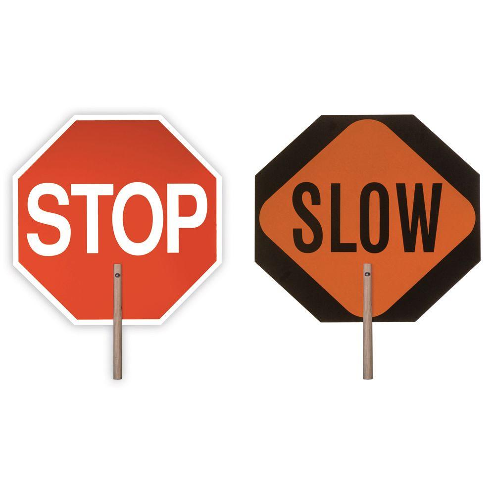 18 in. Handheld Stop/Slow Paddle, Multi