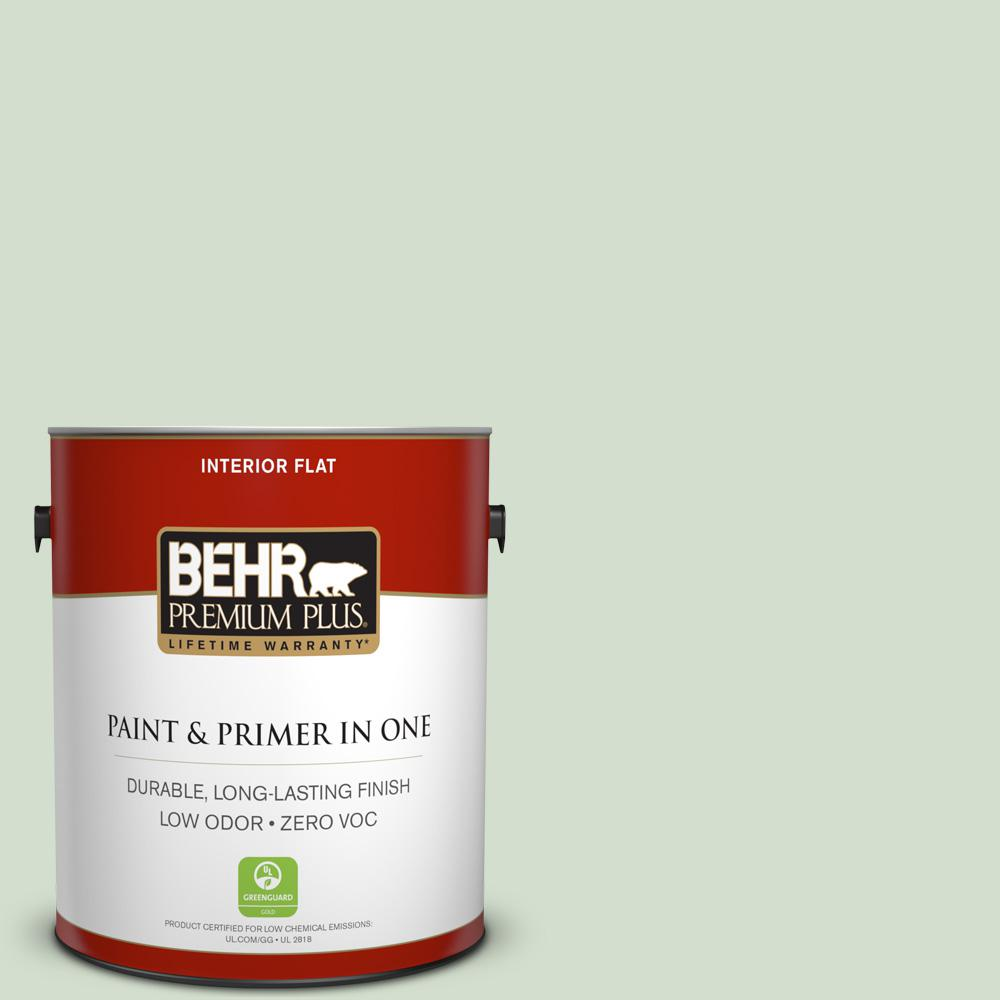 1-gal. #440E-2 Herbal Mist Zero VOC Flat Interior Paint
