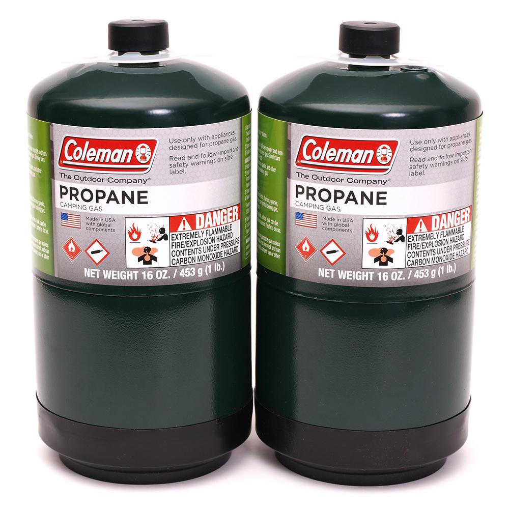 Coleman 1 lb. Coleman Propane Gas Cylinder (2-Pack)-310805 ...
