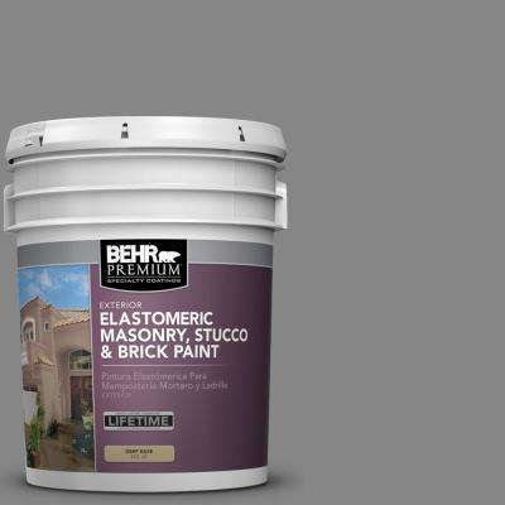 5 gal. #PFC-63 Slate Gray Elastomeric Masonry, Stucco and Brick Exterior Paint