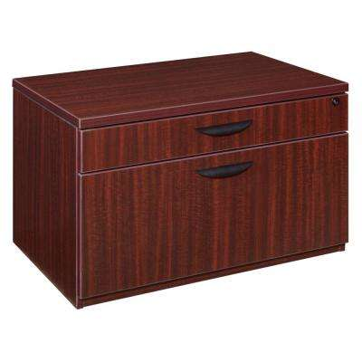 Magons 20 in. Mahogany Low Box File Lateral