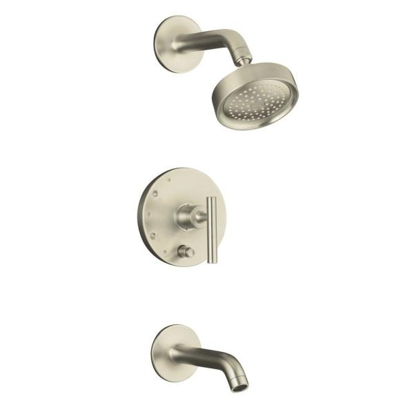 Purist Single-Handle Tub and Shower Faucet Trim Only in Vibrant Brushed Nickel (Valve Not Included)