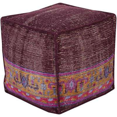 Jasindo Dark Purple Accent Pouf