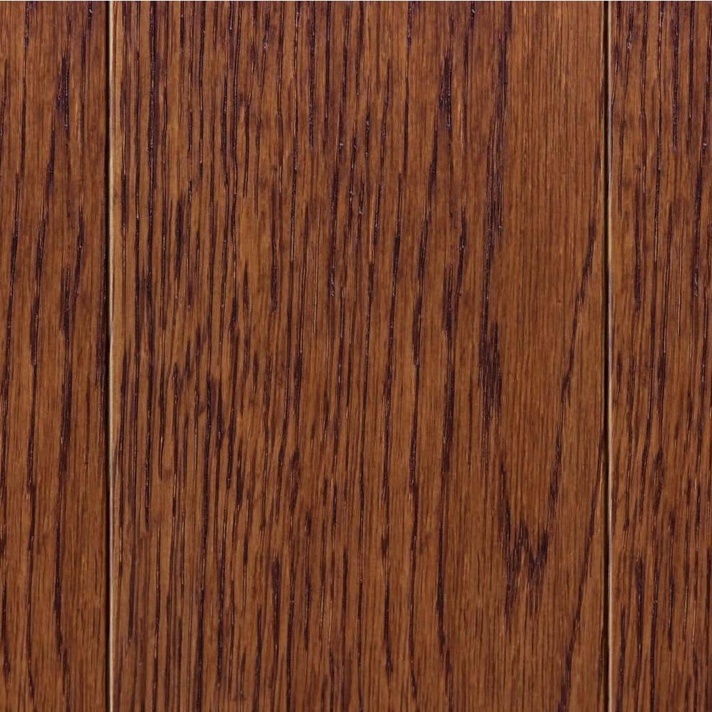 Home Legend Wire Brush Oak Toast 3/8 in. T x 3-1/2 in. W x Varying Length Click Lock Hardwood Flooring (20.71 sq. ft. / case)